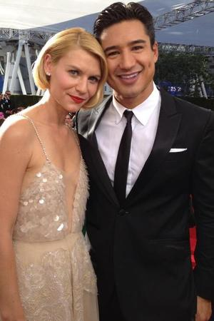 Mario Lopez and Claire Danes at the Emmys