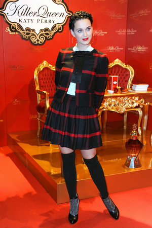Katy Perry launches her fragrance Killer Queen in Berlin