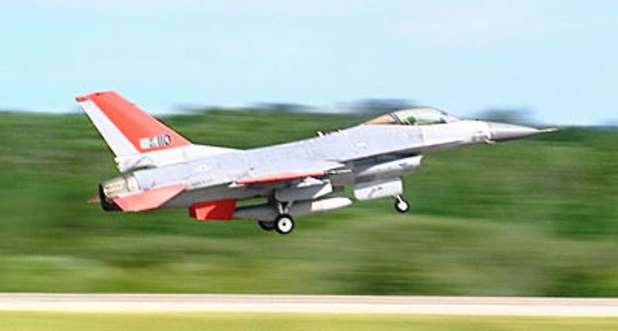 Pilotless F-16 fighter jet