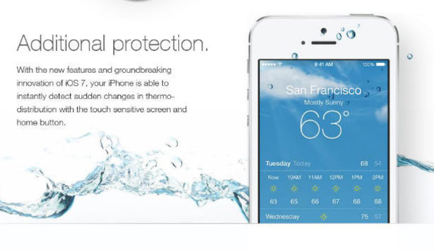 iOS 7 bogus advert