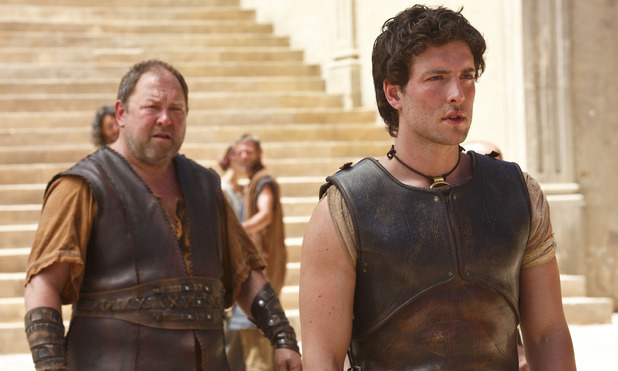 Mark Addy as Hercules and Jack Donnelly as Jason in 'Atlantis' episode 1