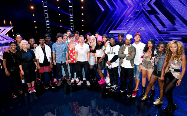 The X Factor groups with Gary Barlow