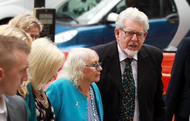 Rolf Harris arrives at Westminster Magistrates Court accompanied by his wife Alwen Hughes ~ September 23, 2013