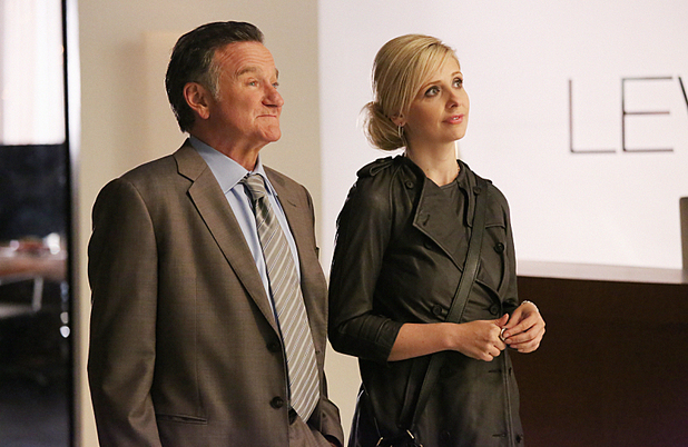Robin Williams and Sarah Michelle Gellar in 'The Crazy Ones' season premiere