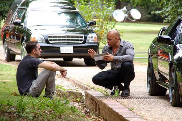 Vin Diesel on the set of 'Fast & Furious 7'