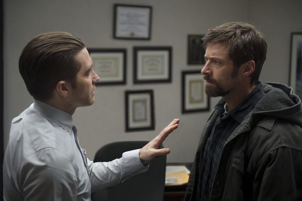 Hugh Jackman & Jake Gyllenhaal in 'Prisoners'