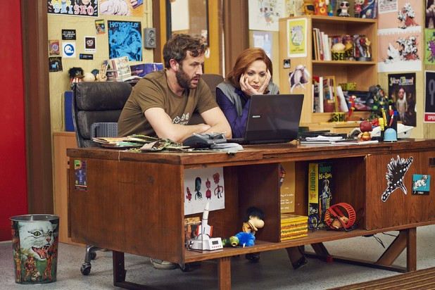 'The IT Crowd': Chris O'Dowd as Roy and Katherine Parkinson as Jen
