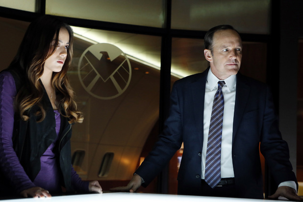 Chloe Bennet and Clark Gregg in 'Marvel's Agents of SHIELD' episode 1