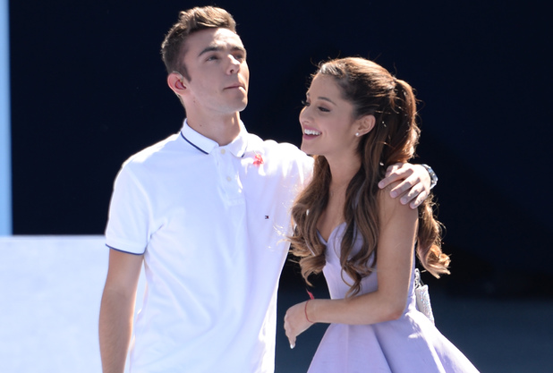 Nathan Sykes of The Wanted and Ariana Grande