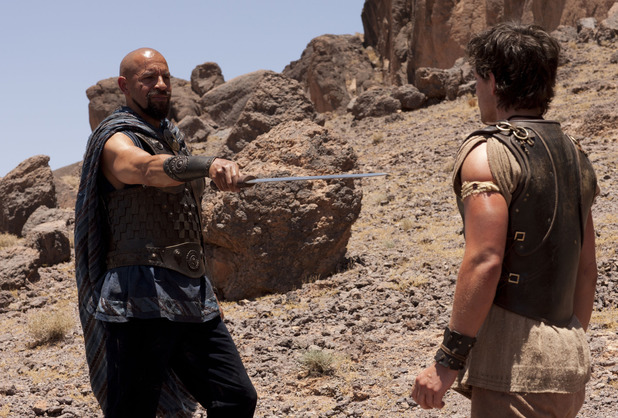 Joe Dixon as Ramos and Jack Donnelly as Jason in 'Atlantis' episode 1