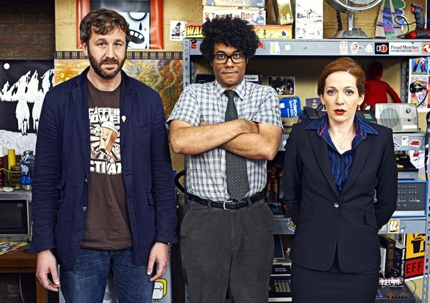 'The IT Crowd': Chris O'Dowd as Roy, Richard Ayoade as Moss and Katherine Parkinson as Jen