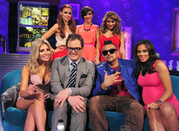 Alan Carr with The Saturdays