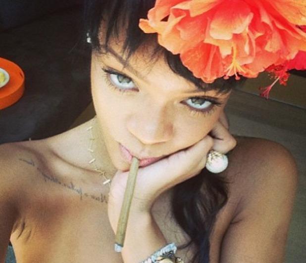 Rihanna's suspicious cigarette
