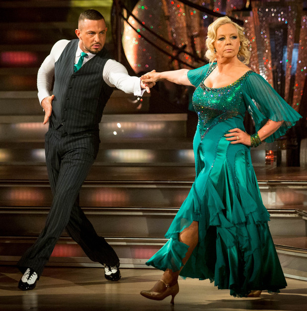 Robin Windsor and Deborah Meaden dance the Tango.