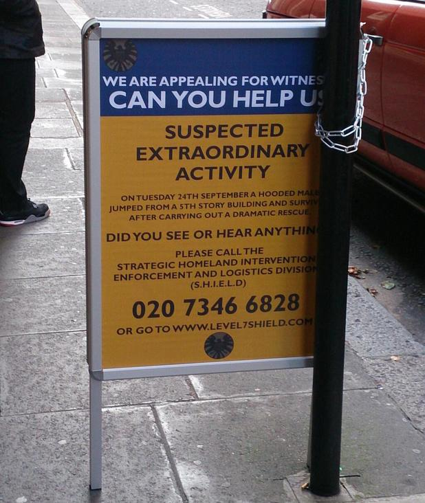 A faux-witness appeal poster to promote Marvel's Agents of SHIELD