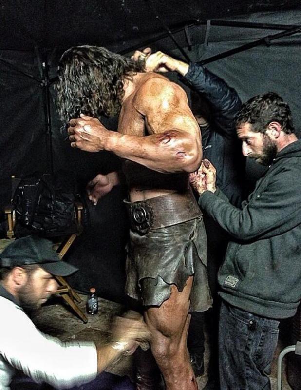 Dwayne Johnson on 'Hercules' set
