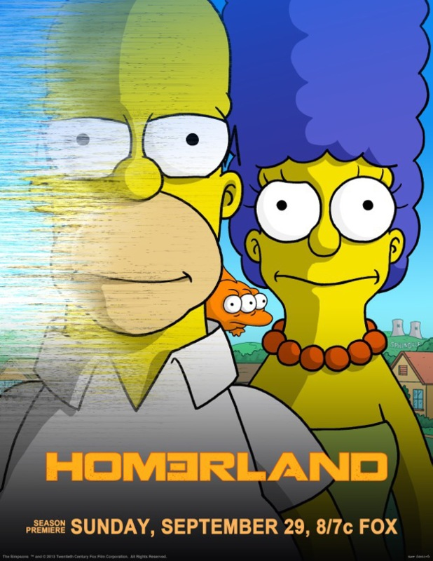 'The Simpsons' spoof 'Homeland' poster