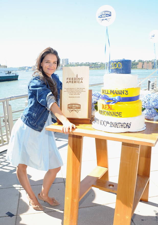 Katie Holmes attends Hellmann's 100th Brithday celebration