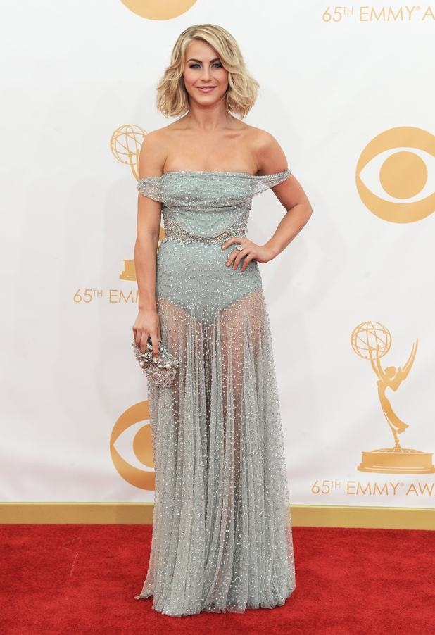 Julianne Hough arrives at the 65th Primetime Emmy Awards at Nokia Theatre on Sunday Sept. 22, 2013, in Los Angeles