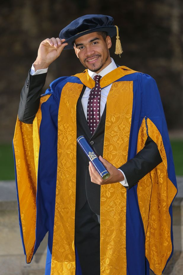 Louis Smith receives his honorary degree from Anglia Ruskin University