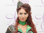 Amy Childs dons camouflage gear at launch