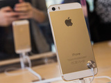 Gold iPhone 5S on sale in an Apple store in New York City