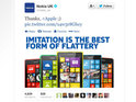 Nokia's dig at Apple becomes one of the most retweeted brand posts on Twitter.