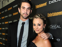 Kaley Cuoco shoots down rumors on Twitter that she is expecting a baby.
