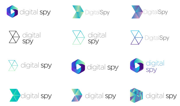 Treatments of the Digital Spy logo and branding