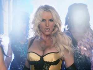 Britney Spears 'Work Bitch' music video still.