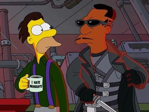 'Blade' referenced in Guillermo del Toro's opening sequence to 'The Simpsons'
