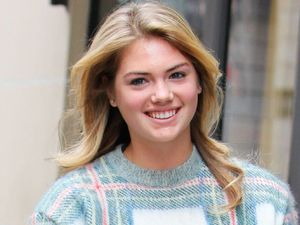 Kate Upton spotted out and about in Paris