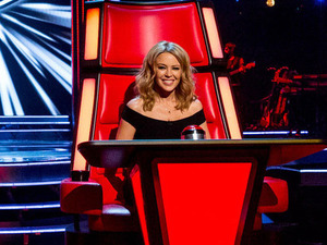 'The Voice' new judges Kylie Minogue and Ricky Wilson on set with Sir Tom Jones and will.i.am