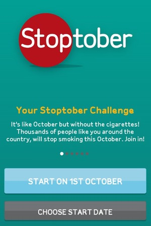 Stoptober app screenshot.
