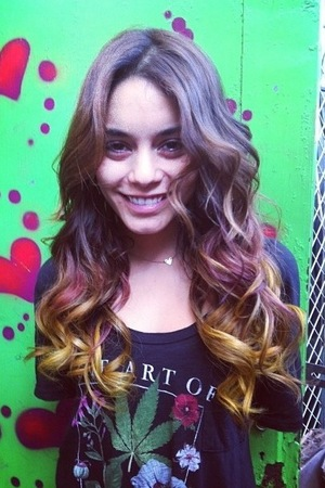 Vanessa Hudgens shows off her new hair