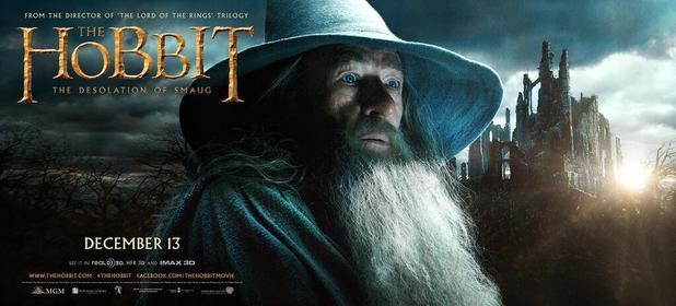 Sir Ian McKellen in 'The Hobbit: The Desolation of Smaug' poster