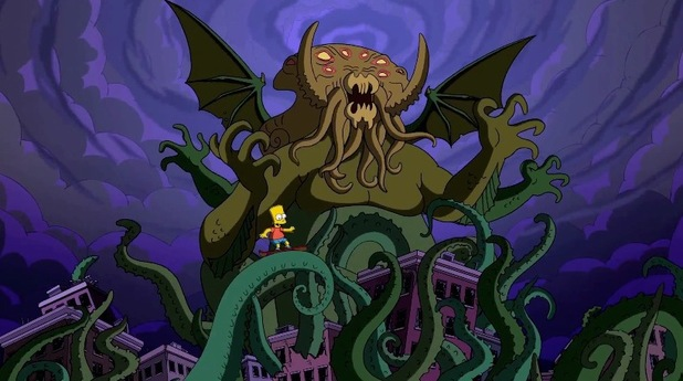 'Cthulhu' referenced in Guillermo del Toro's opening sequence to 'The Simpsons'