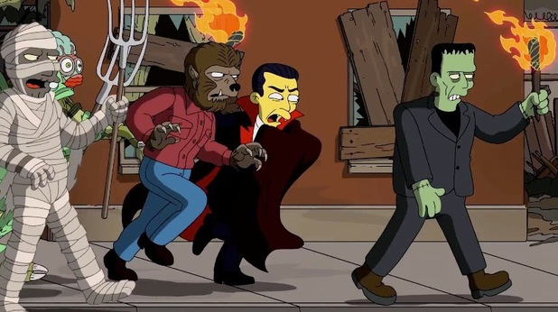 'Universal Monsters' referenced in Guillermo del Toro's opening sequence to 'The Simpsons'