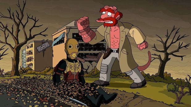 'Hellboy' referenced in Guillermo del Toro's opening sequence to 'The Simpsons'