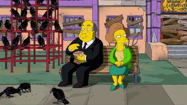 Alfred Hitchcock's 'The Birds' referenced in Guillermo del Toro's opening sequence to 'The Simpsons'