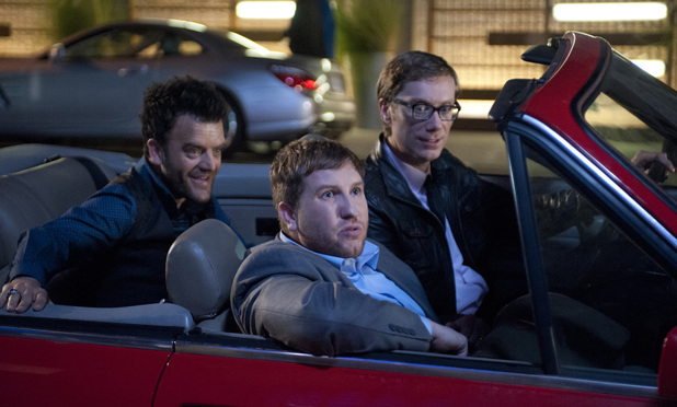 Stephen Merchant, Kevin Weisman & Nate Torrence in 'Hello Ladies'