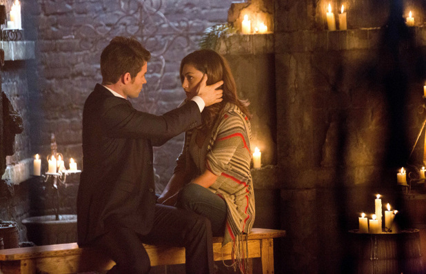 Daniel Gillies as Elijah and Phoebe Tonkin as Hayley in 'The Originals' S01E01: 'Always And Forever'