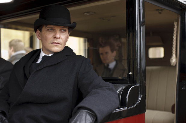 Nigel Harman as Green and Charles Edwards as Gregson in 'Downton Abbey' episode 3