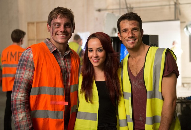 Hollyoaks stunt week - James Atherton, Stephanie Davis and Danny Mac