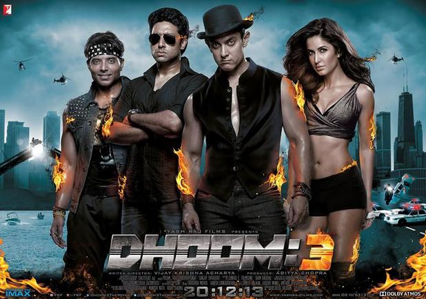 Dhoom 3 official movie poster.