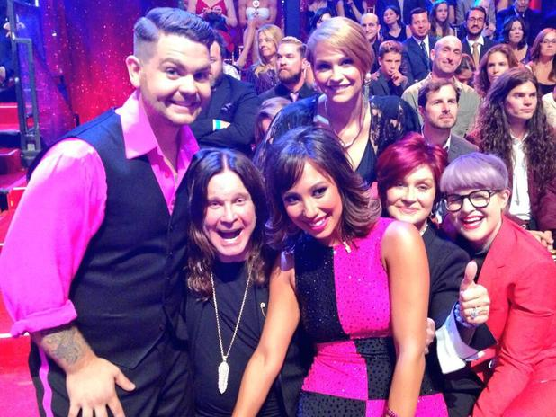 Jack Osbourne poses with his family after his Dancing with the Stars performance