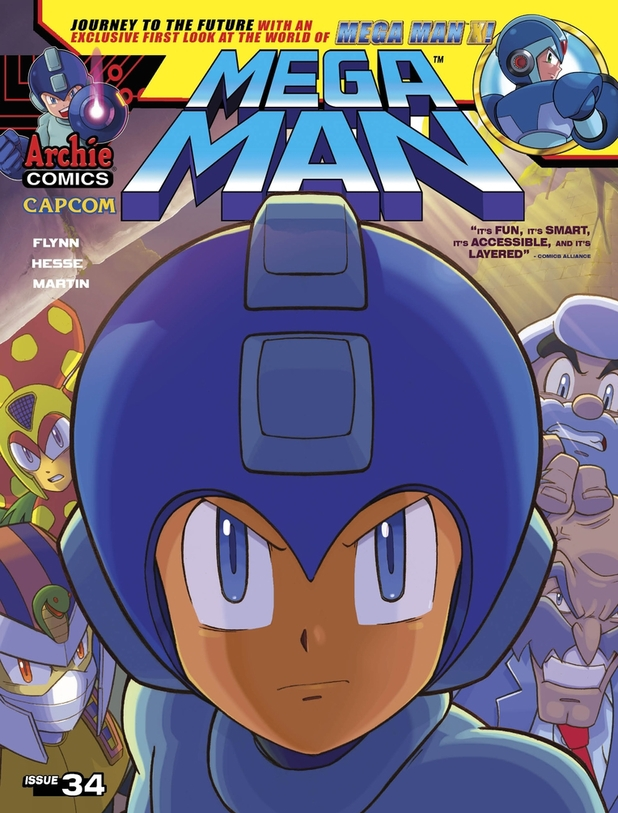 Mega Man #34 cover artwork