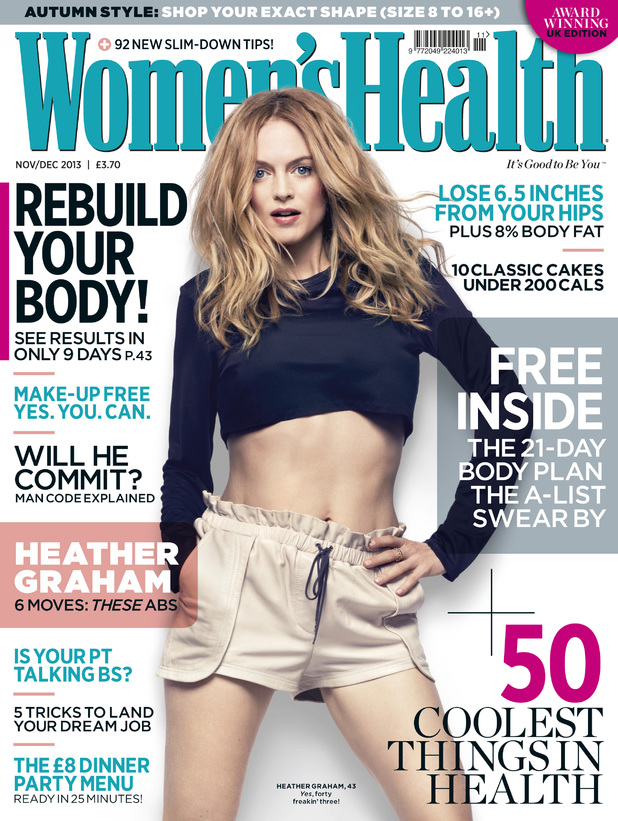 Heather Graham on the cover of Women's Health.