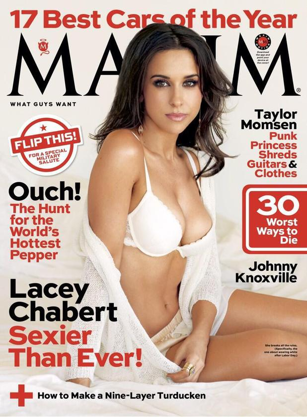 Lacey Chabert on the cover of Maxim