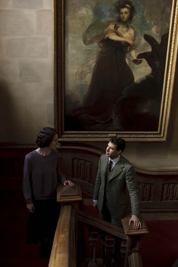 Michelle Dockery as Lady Mary and Tom Cullen as Lord Gillingham in 'Downton Abbey' episode 3